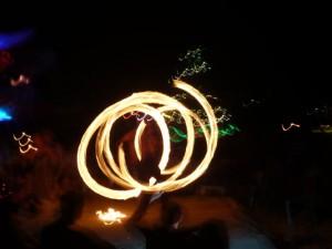 Fire Show le soir de Noël !