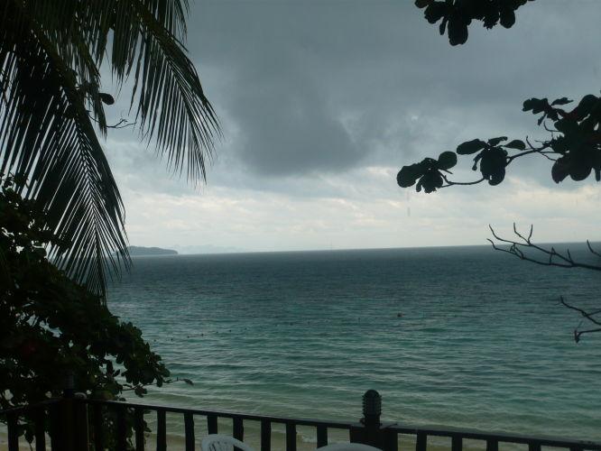 la vue de la terrasse de l'hotel