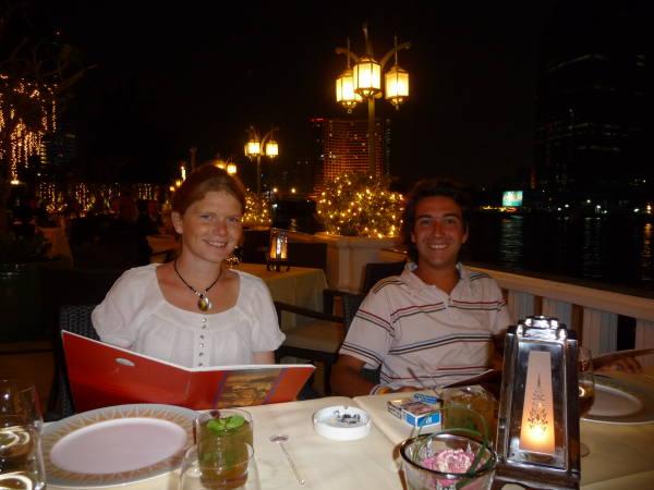 philou et moi dinant à l'orientale !