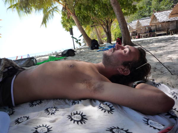 Petite sieste sur Mosquito Island