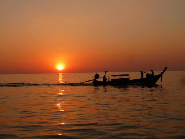 Couchée de soleil sur la trajet du retour !
