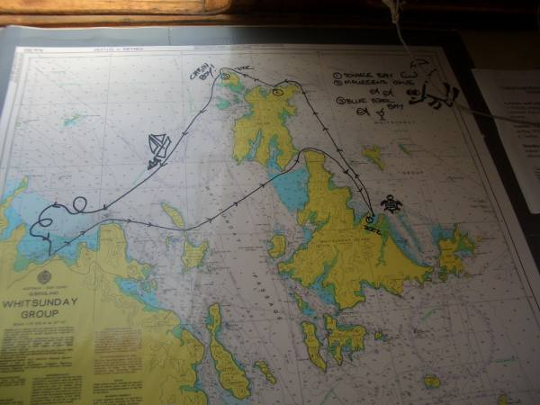 Notre parcour au milieu de l'archipel !