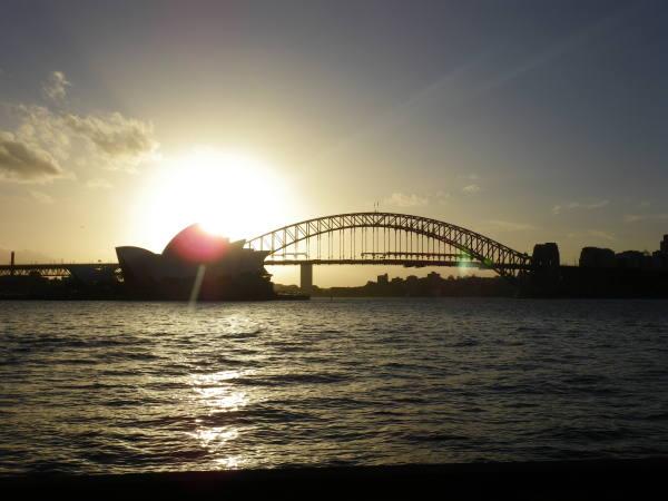 couché de soleil à sur l'opéra !