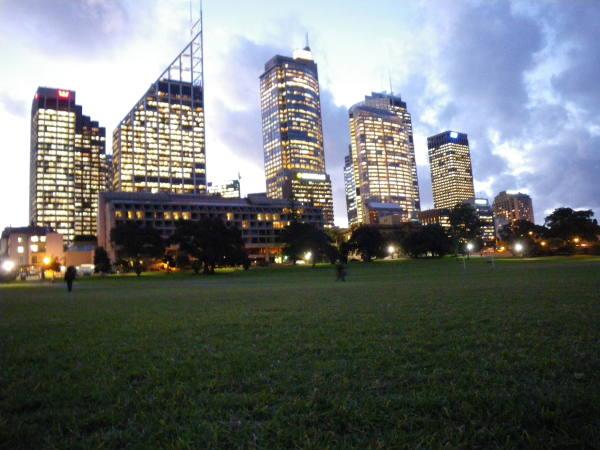 Sydney vu de puis Hyde park !