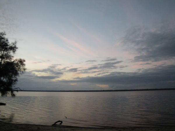 levé de soleil sur le lac !!!