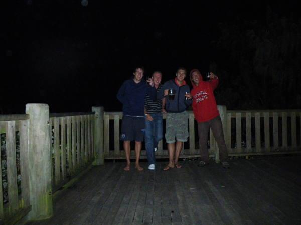 lian, tommy, max et moi au top de notre forme.