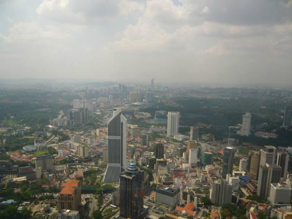 la vue depuis la KL tower